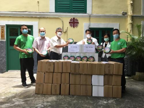 珠盈免稅有限公司捐贈432盒曲奇