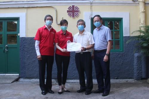 澳門友邦保險捐贈168,000澳門幣予澳門明愛作抗疫援助