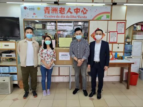 中澳青年發展促進會捐贈1,000個口罩